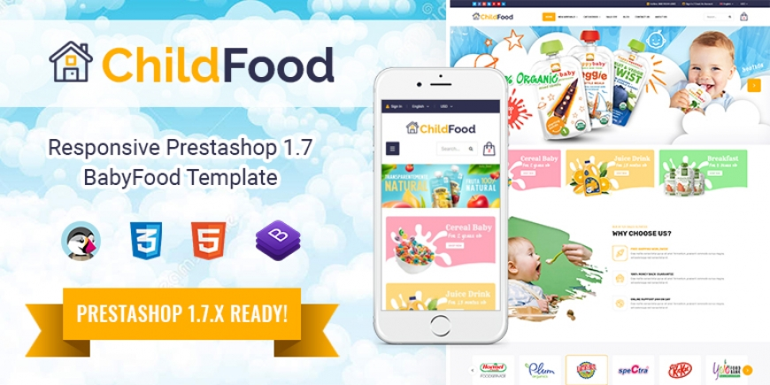 SP ChildFood - Multipurpose Responsive PrestaShop 1.7 Baby Store Theme