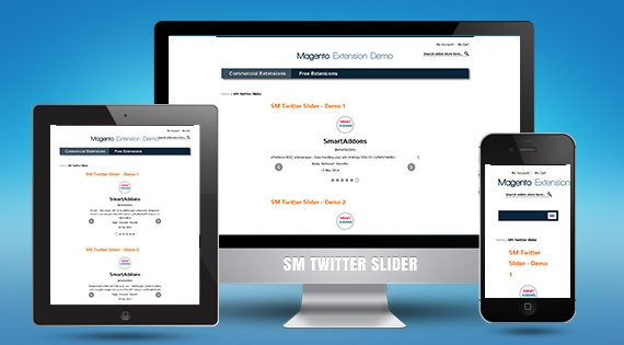 SM Twitter Slider - Free Responsive Magento Module