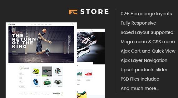 SM FCStore  - Responsive Sport Theme for Magento