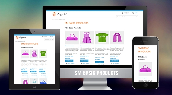 SM Basic Products - Free Responsive Magento 2 Module