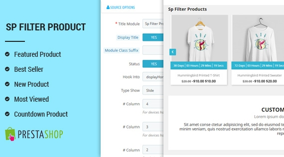 SP Filter Product - Powerful Responsive PrestaShop 1.7 Module