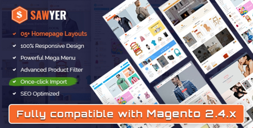 SM Sawyer - Responsive Magento 2 and 1.9 Store Theme