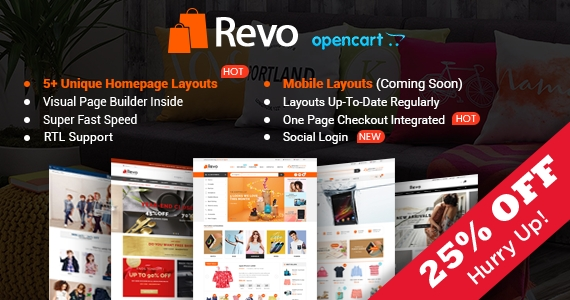 So Revo - Drap & Drop Multipurpose OpenCart Theme
