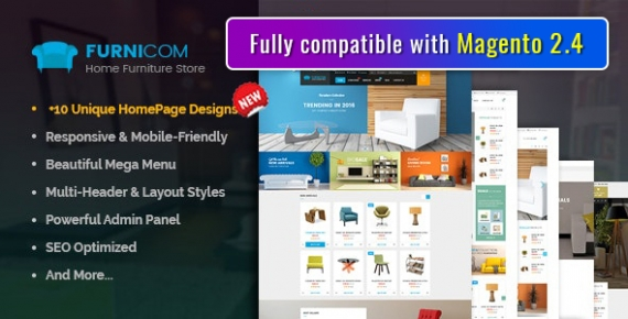 SM Furnicom - Responsive Magento 2 and 1.9 Furniture Theme