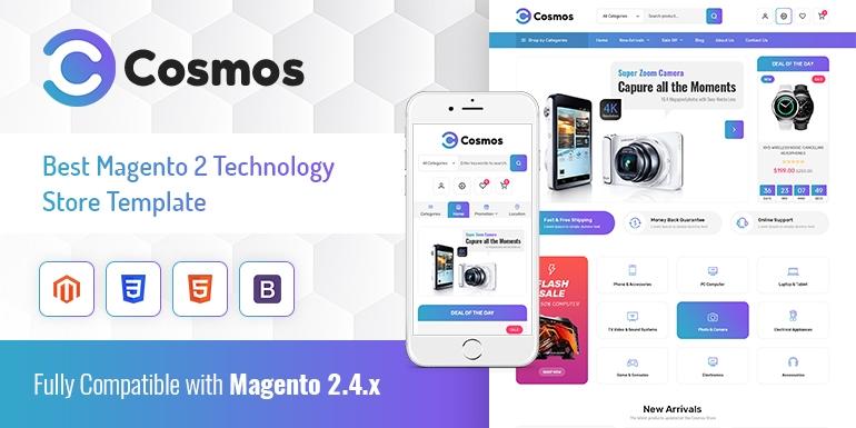 SM Cosmos - Hitech Store Magento 2 Theme