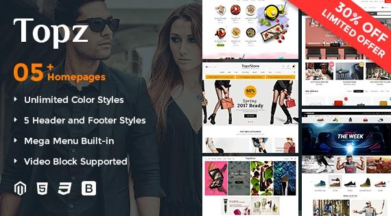 SM Topz - Responsive Magento 2 Fashion Store Theme