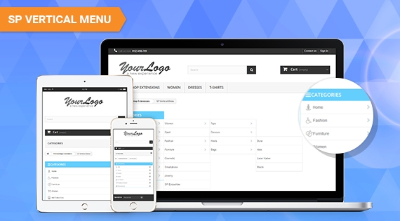 SP Vertical Menu - Responsive PrestaShop Module