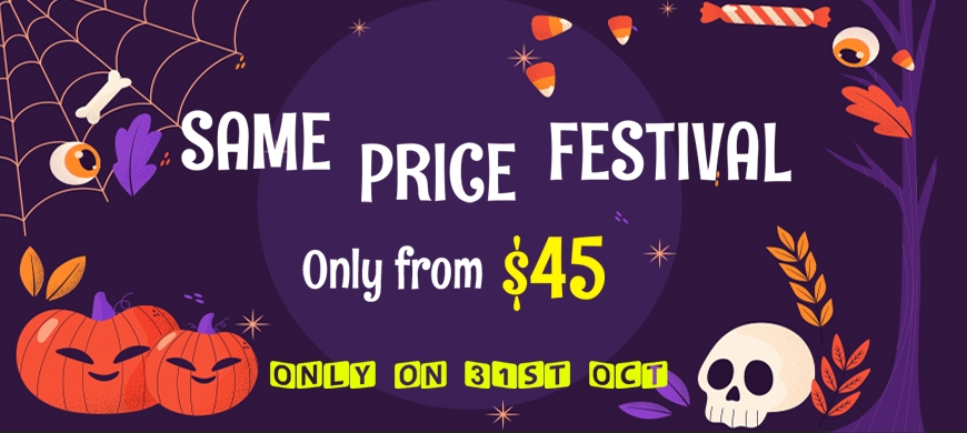 Sweet Halloween! Get Discount so high storewide and Join Same Price Festival