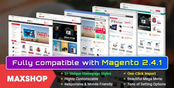 Maxshop - Responsive Multipurpose Magento 2 and 1.9 Theme