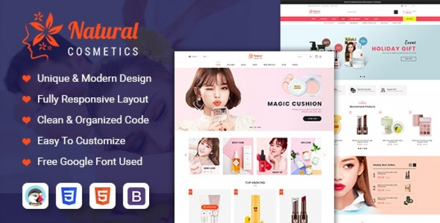 SP Natural - Cosmetics and Beauty Prestashop 1.7 Theme