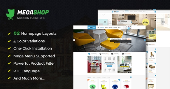 So Megashop - Responsive Opencart Furniture Theme