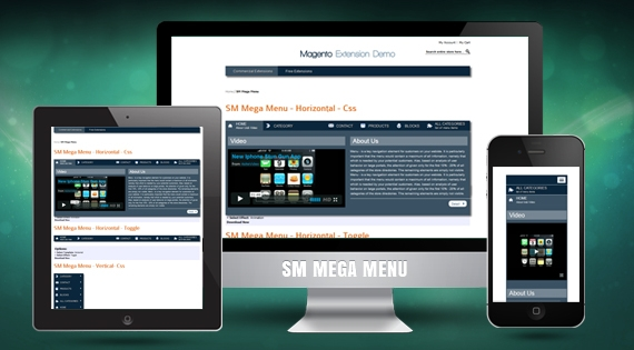 SM Mega Menu - Responsive Magento Module
