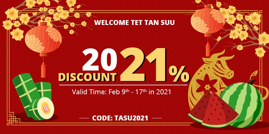Welcome 2021 and Get 21% OFF Storewide