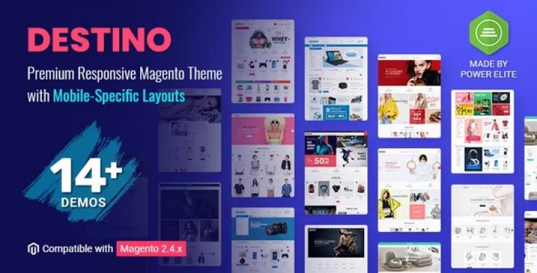 Destino - Premium Responsive Magento 2 Theme with Mobile-Specific Layouts