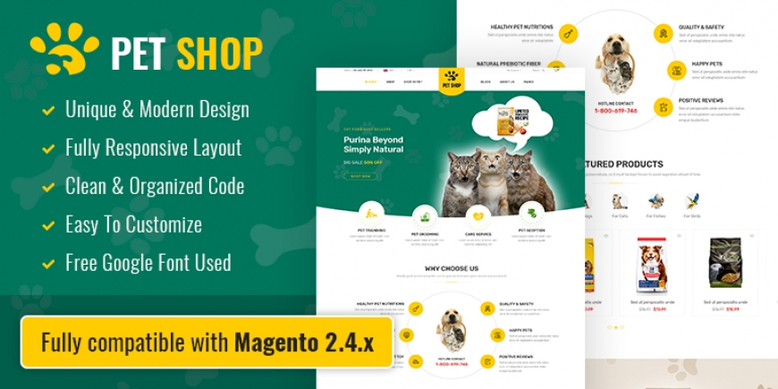 SM PetShop - Beautiful Responsive Magento 2 Theme