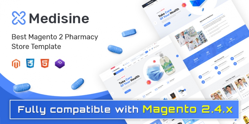 SM Medisine - Drug and Medical Store Magento 2 Theme