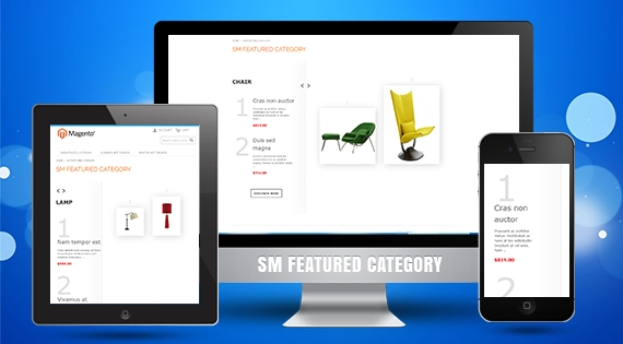 SM Featured Category - Responsive Module for Magento
