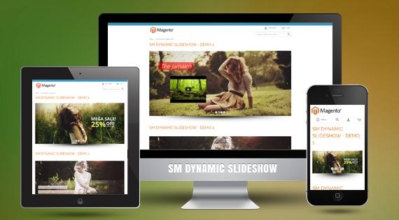 SM Dynamic Slideshow - Responsive Magento Module