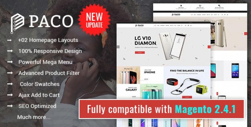 SM Paco - Clean & Modern Responsive Magento 2 Hi-tech Theme