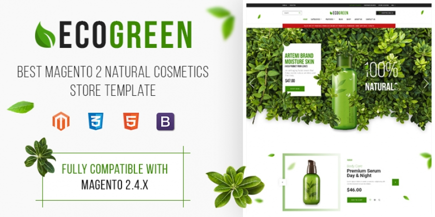 SM Ecogreen - Magento 2 Organic, Fruit, Vegetables Magento Theme