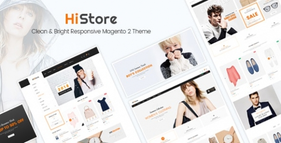 HiStore - Clean and Bright Responsive Magento 2 Theme