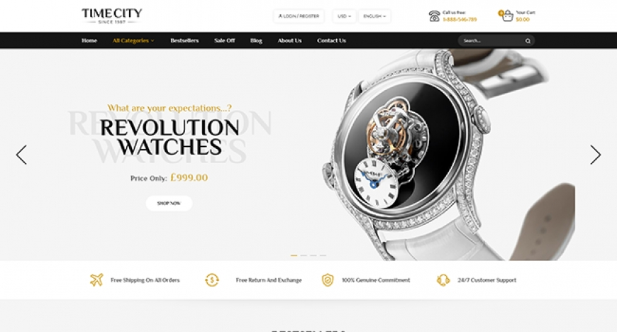 [Preview] SM Time - Modern Magento 2 Watch Store Theme