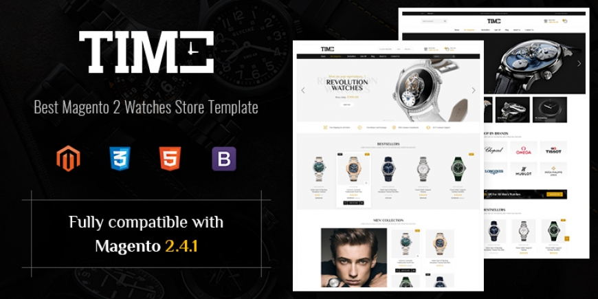 SM Time - Modern Magento 2 Watch Store Theme