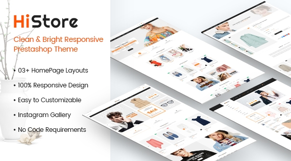 HiStore - Clean and Bright Responsive PrestaShop Theme