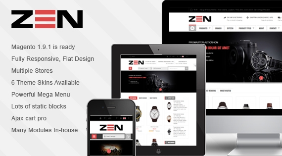 SM Zen - Responsive Multi-store Theme for Magento