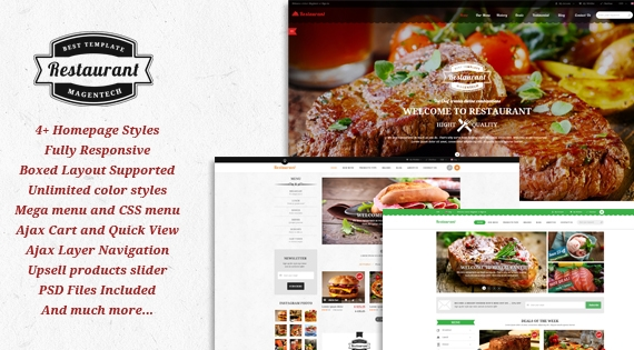SM Restaurant - Responsive Restaurant Theme for Magento