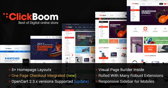 So ClickBoom - Advanced OpenCart 2.3 Shopping Theme