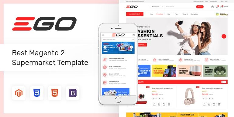 SM Ego - Marketplace Multipurpose Magento 2 Theme