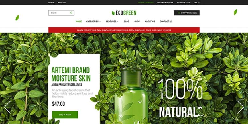[Preview] SM Ecogreen - Magento 2 Organic, Fruit, Vegetables Magento Theme
