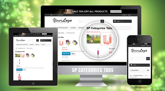 SP Category Tabs - Responsive Prestashop Module