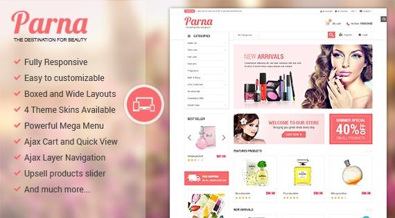 Parna - Responsive Multipurpose Magento 1 and 2 Theme