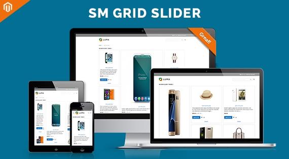 SM Grid Slider - Responsive Magento 2 Module