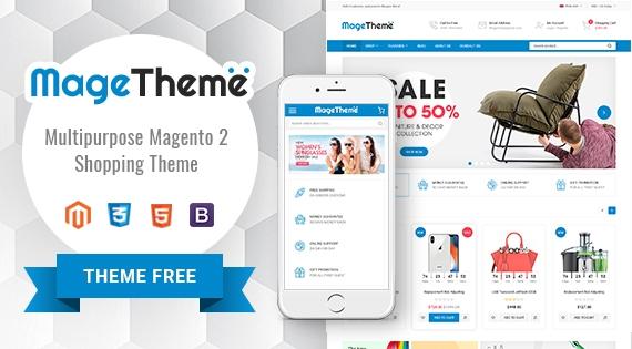 SM MageTheme - Responsive MultiPurpose Free Magento 2 Theme