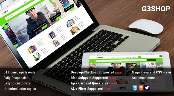 G3shop - Responsive Multipurpose Magento Theme