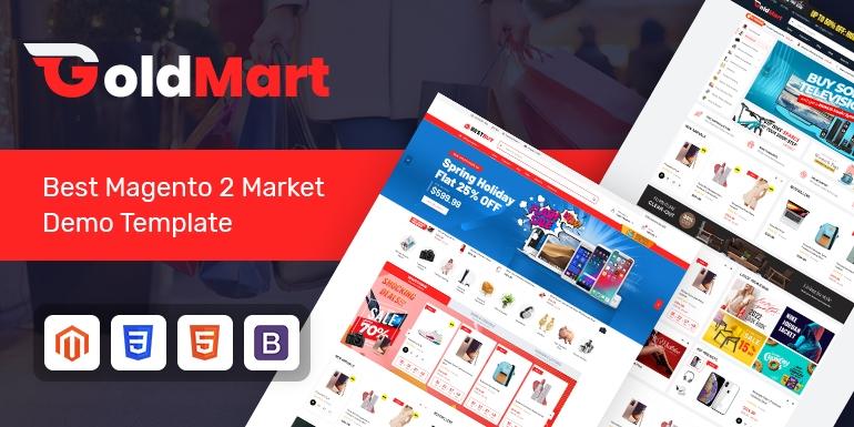 SM Goldmart - Modern Marketplace Magento 2 Theme