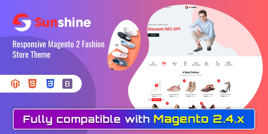 SM Sunshine - Responsive Magento 2 Shoes Theme