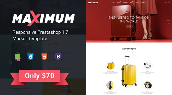 Maximum - Responsive PrestaShop 1.7 eCommerce Theme