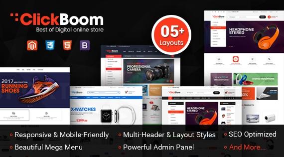 SM ClickBoom - Responsive Magento 2 Digital/Shoe Store Theme