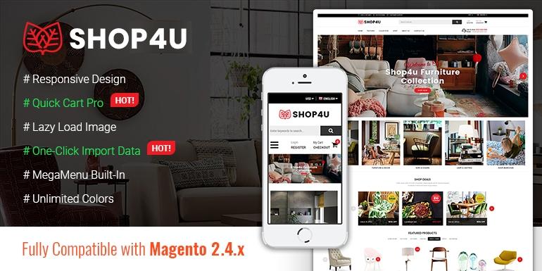 SM Shop4U - Gorgeous Responsive Magento 2 Theme