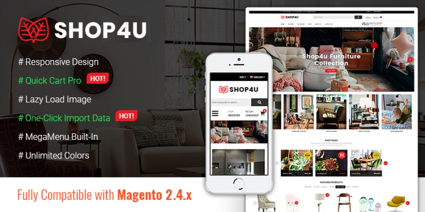SM Shop4U - Gorgeous Responsive Magento 2 Theme
