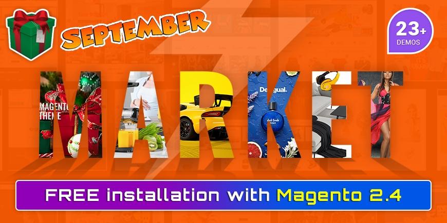 SM Market Magento Theme - Big Gift in Ending September