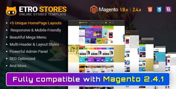 Etrostore  - Responsive Multipurpose Magento 2 & 1 Theme
