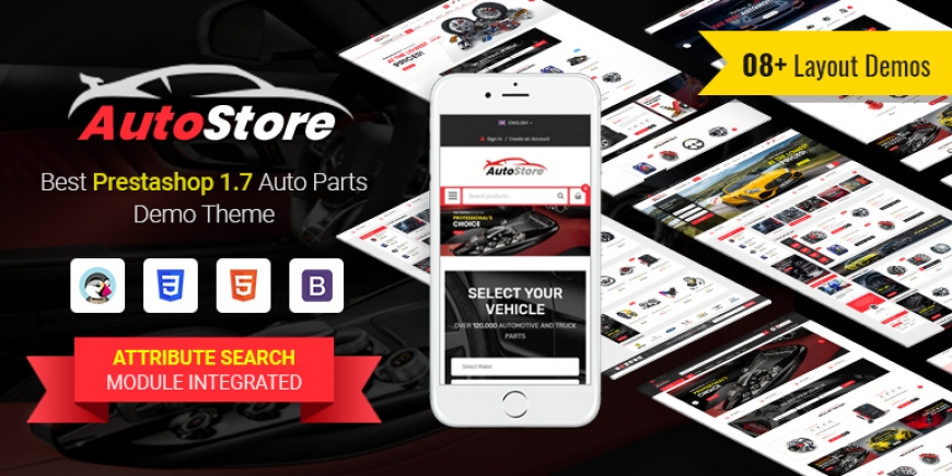 SP Autostore - Multipurpose Responsive PrestaShop 1.7 Auto Part Theme