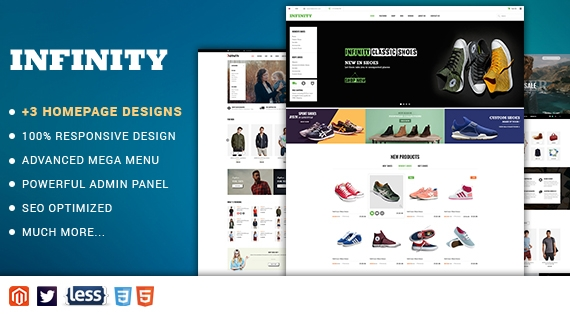 SM Infinity - Responsive Magento 2 Fashion/Shoe Store Theme