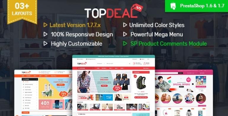 SP TopDeal - Multipurpose Responsive PrestaShop 1.6 and 1.7 Theme