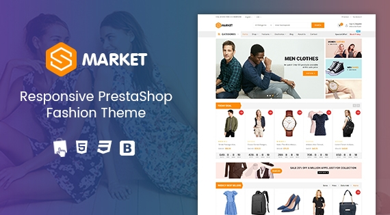 Smarket - Responsive PrestaShop 1.7 Fashion Theme